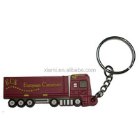 newest cool truck shape silicone keyring
