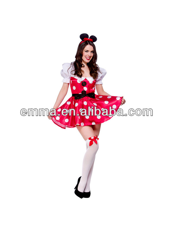 dult Sexy Mouse Fancy Dress Costume Fairytale Outfit Minnie Ladies Womens Maid BW1032