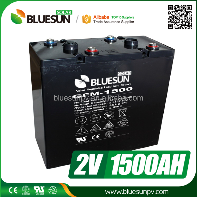 2v rechargeable battery for solar generator 2v 1500ah battery batteries with solar inverter and solar panel