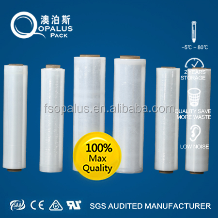 Ldpe plastic film on roll with paper core