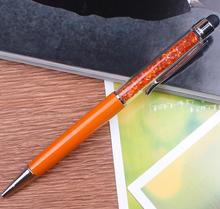 New design hot sale logo printing diamond crystal metal ball-Point pen