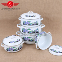 Chinese kitchen tools happy baron elegant enamel arc cookware set
