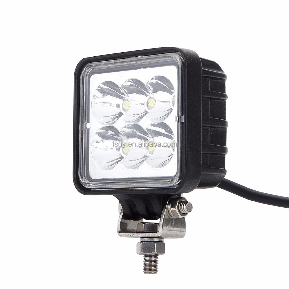 3'' square 18w wattage fog 1800lm truck driving light