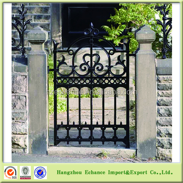 Customize design Country style Decorative Wrought metal yard Fence and Gate