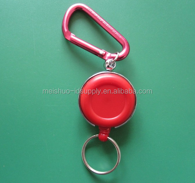 Retractable Reels Card Badge Holder Anti-Lost Clip Buckle with Alloy Hook