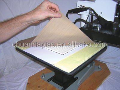 Customized Size 3 mil Non-stick PTFE Cover Sheet for Transfer Paper Iron-On and Heat Press