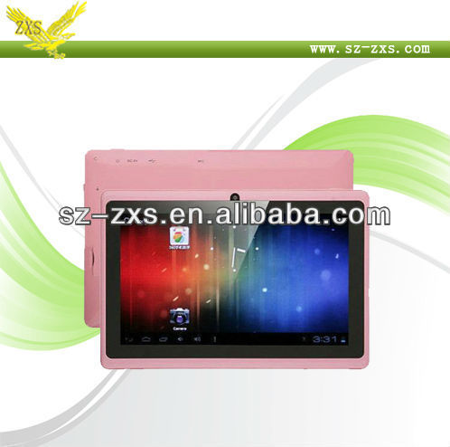 Zhixingsheng Promotional 7 inch dual camera q88 pc tablet android touch screen with allwinner a13 cpu 1.2ghz Q88