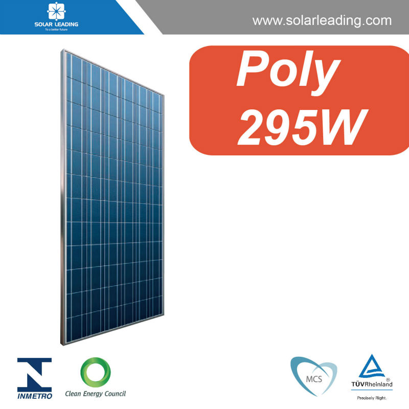 Factory directly 295w solar panels connect to pure sine wave solar inverter for on grid solar power generator system