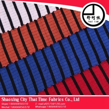 Hot selling That Time spandex rayon polyester stripe fabric