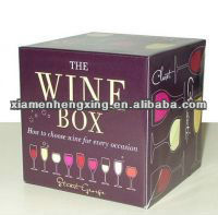 cardboard beer boxes/custom printing six pack beer box/wine glass cardboard gift boxes