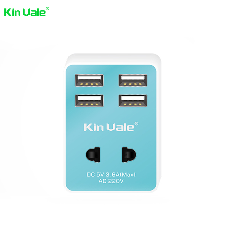 2016 Multi adapter plugs smart IC USB 5V 3.6A fast charging travel adapter 4 port usb travel charger