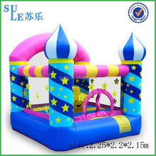Fast supplier	PVC	inflatable slide inflatable water park	inflatable castle with Blower