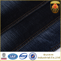 Color fastness cotton spandex stretch denim fabric
