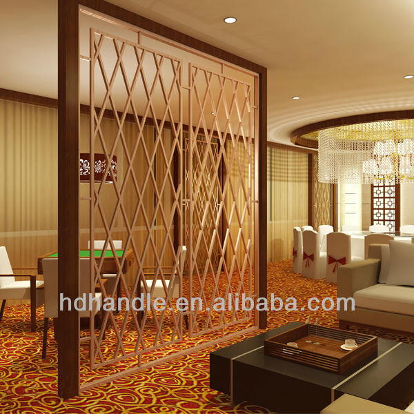 Stainless steel hanging room divider