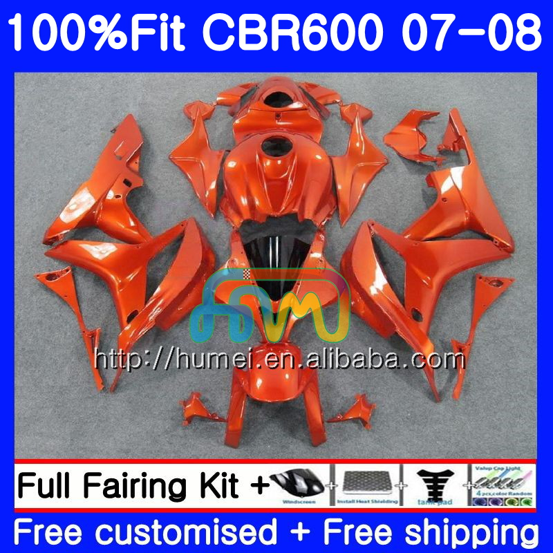 Injection For HONDA CBR 600 RR 07-08 CBR 600RR F5 ALL Orange 10HM29 CBR600RR CBR600F5 F5 07 08 CBR600 RR 2007 2008 Fairing