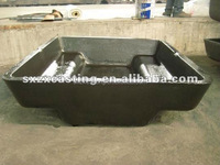 Alloy Steel Casting Aluminum Sow Mold and Dross Pan for aluminum scrap recycling