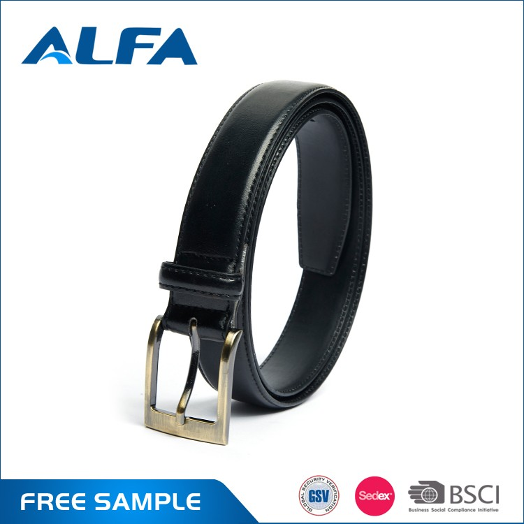 Alfa Hot Sale Cheap Designer Men Leather Belts Adjustable Cow Split Leather Belt