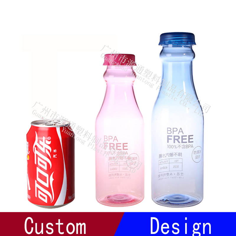 Hot Sale 500ml Clear Plastic Soda Water My Bottle With Custom Logo