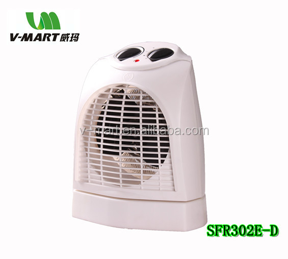 V-MART living room fan heater with IP21 with oscillation adjustment