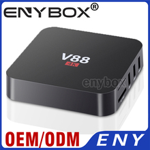 2017 горячая V88 4 К 1 ГБ/8 ГБ Android 5.1 4 К декодирования, wi-fi bgn, bluetooth ОТТ коробка android tv box RK3229
