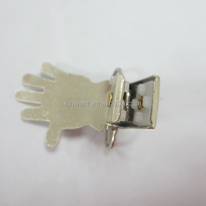 Metal Suspender Clips With Hand Shaped In Bulk Price