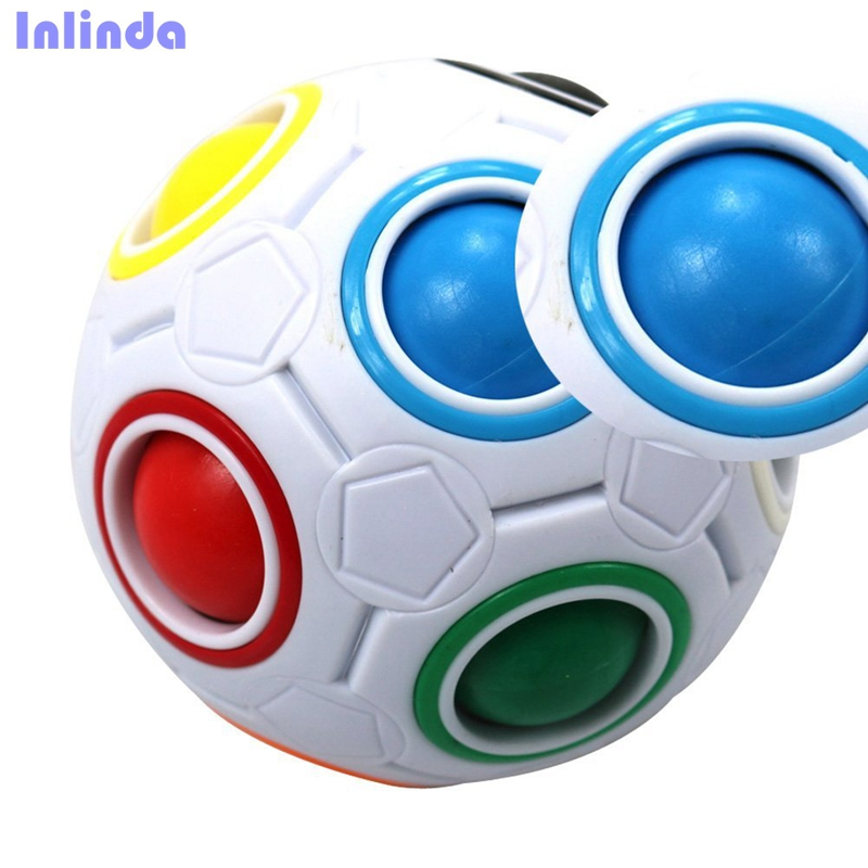 Challenging Puzzle Ball Speed Cube 11 Rainbow Colors to Solve