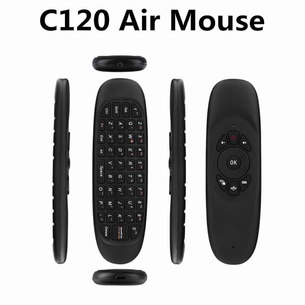 Professional Eco-friendly C120 2.4g air fly mouse for android tv box h96 pro