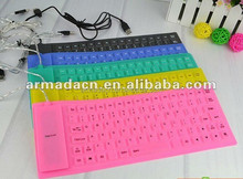 2014 hot selling flexible waterproof silicone keyboard 85 keys
