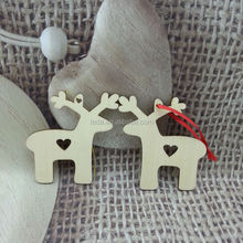 laser cut wooden reindeer crafts with hanging
