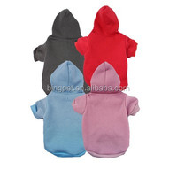 Plain Blank Solid Color Fleece Dog Clothes Hot Sale Dog Hoodie