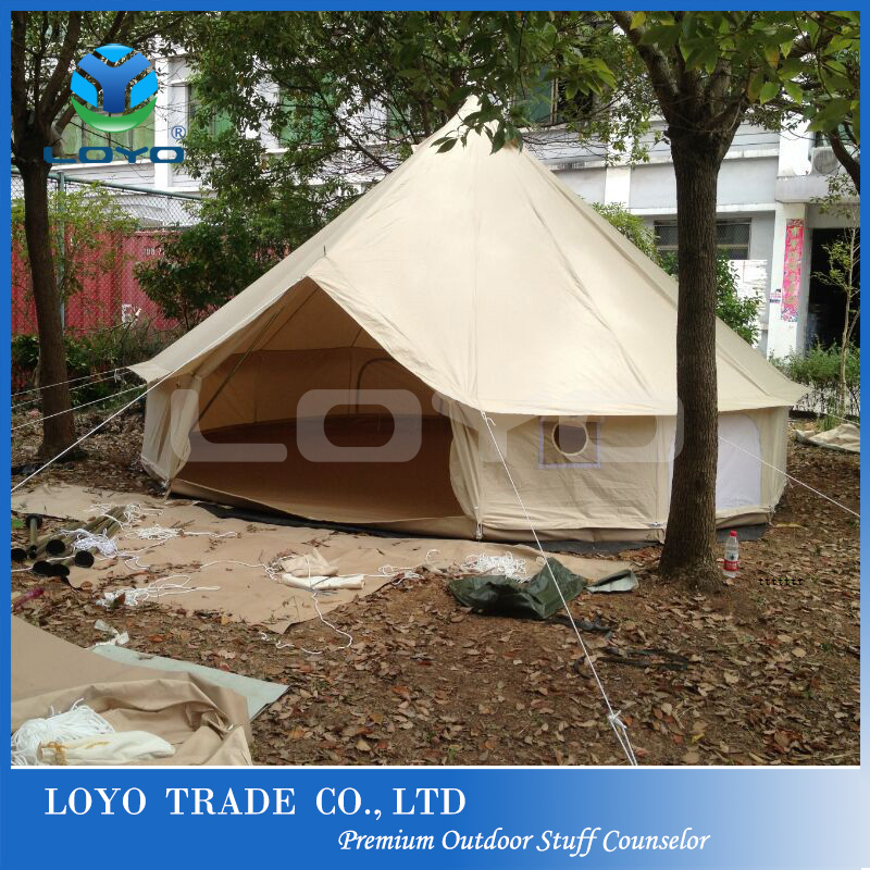 Outdoor canvas bell tent for sale with screen room with stove jack hole