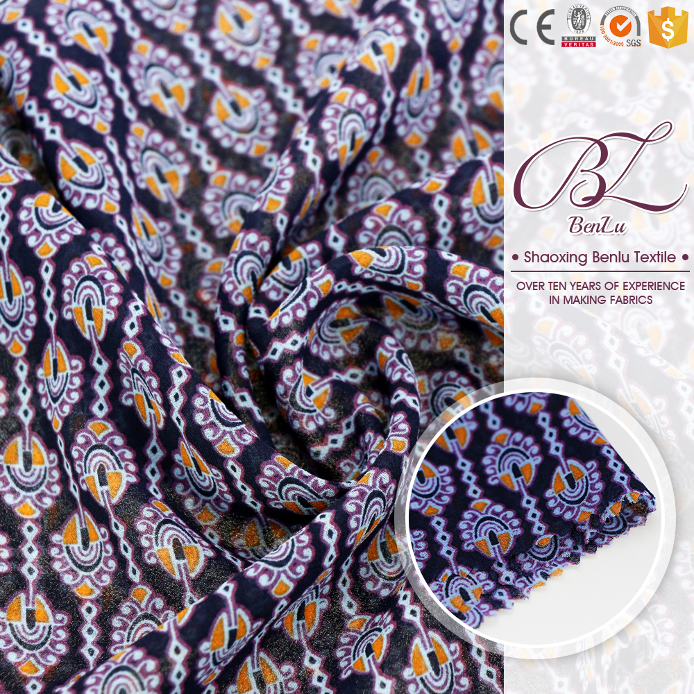 Good supplier stainless steel woven metal fabric 100% polyester stretch chiffon printed