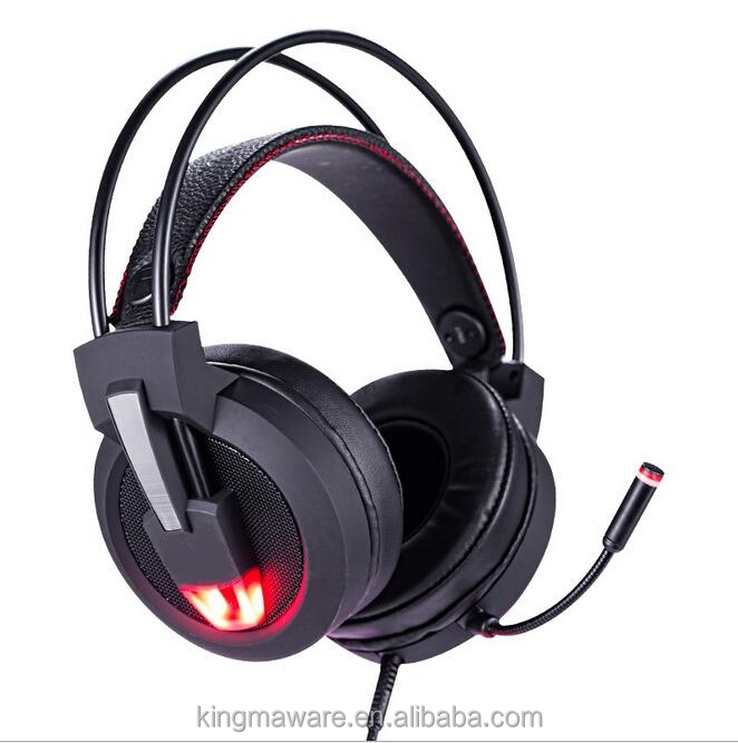 Super Light Weight Video Gamer Headset USB LED Cool PC Gaming Headset 7.1 For PS4 Console