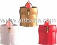 Electronic candle for battery