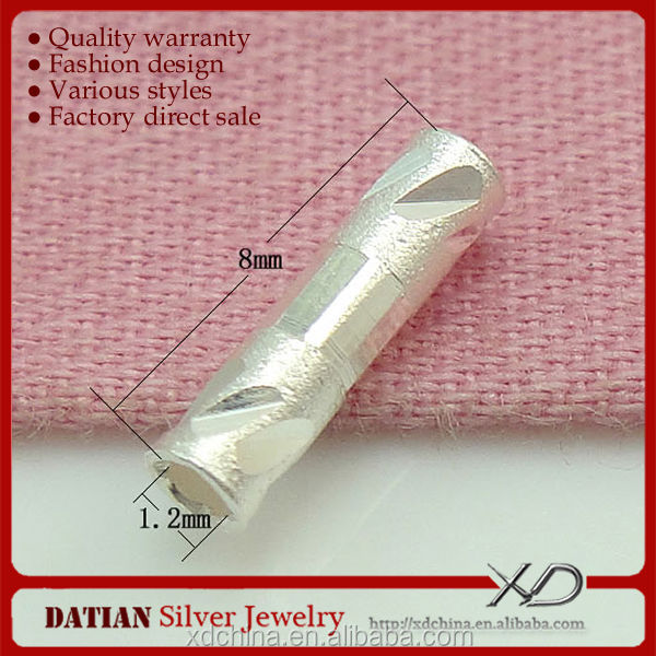 XD <strong>X009</strong> 925 sterling silver tube spacer material to make necklaces and bracelets