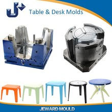 Plastic chair and table mold making in Zhejiang Taizhou with good table design and chair design