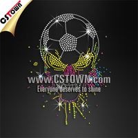 Personalized soccer ball and colorful skull iron on soccer