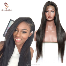 100% Human Hair Full Lace Wig With Baby Hair, Handmade Brazilian Full Lace Human Hair Wig