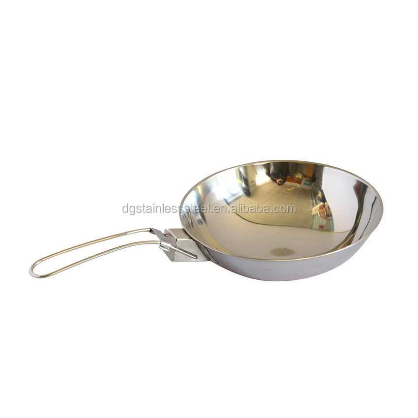 stainless steel copper bottom woks camping cookware set