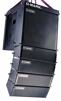 "Mini powered line array loudspeaker (2 x 5""), active line array speaker, professional speaker"