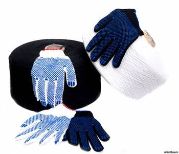 Brand MHR hand protection chinese manufacturer wear-resistant double side pvc dotted cotton gloves