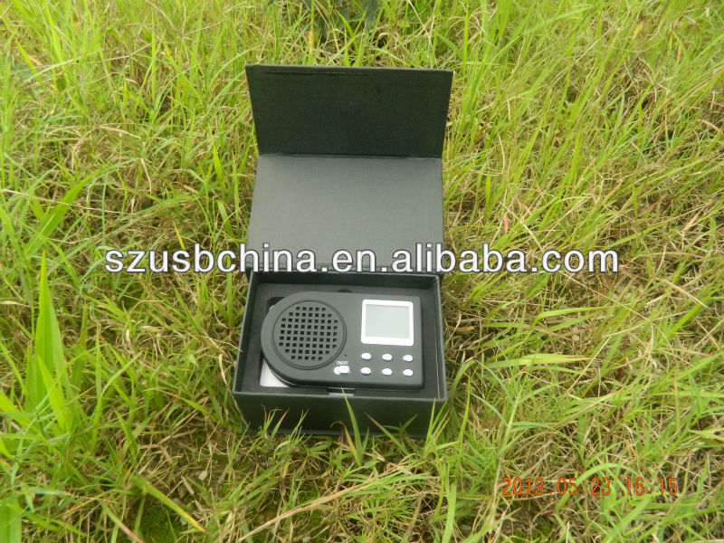 factory price removable-1800MAH and remote control electronic hunting call/turkey calls mp3