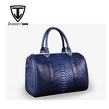 OEM Men's High End Custom Real Python Snakeskin Leather Travel Duffle Bag for Clothes Storage
