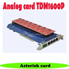 16 port fxo/fxs analog pci asterisk card TDM1600P Voip Card