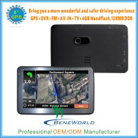 5 inch WIN CE GPS navigation MSB2531A 128MB memory /4GB Flash with DVR/AV IN