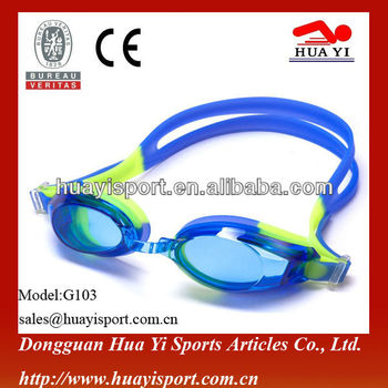 Dongguan factory New Design Fashionable Adult Silicone Swimming Goggles