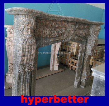 Perfect golden portoro marble fireplace surround