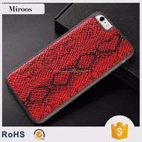 New arrival Snakeskin leather covers with PC and TPU for iPhone 6/6s by China manufacturer Miroos