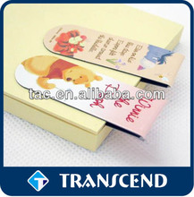 various colorful magnetic bookmark customed/Custom printed cartoon cute design folding magnetic bookmark