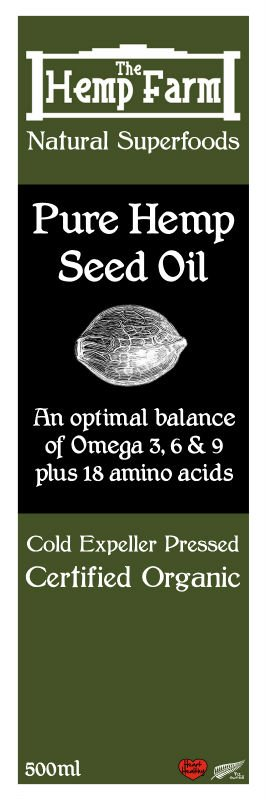 Hemp Seed oil 100% organic cold pressed